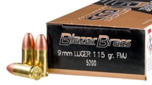BLAZER BRASS 9MM LUGER AMMO