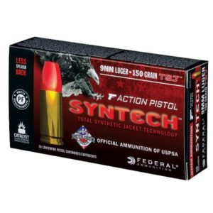 SYNTECH ACTION PISTOL 9MM LUGER AMMO