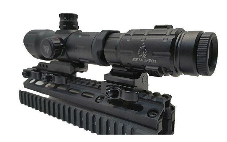 """UTG leaper 6"""" - red dot magnifier"""
